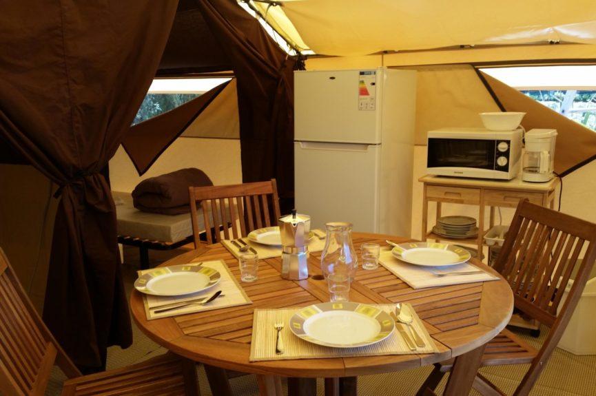 Tente Safari cuisine
